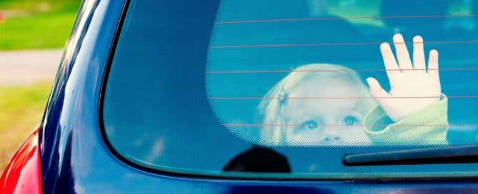 child locked inside car